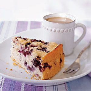 Blueberry Coffee Cake! Studded with plump, juicy berries, the cake also features a sprinkling of turbinado sugar on top that adds another dimension of texture. Ideal for breakfast, brunch, dessert, or as a snack to savor with coffee, it's a recipe you'll make more than once.