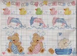 Resultado de imagen para graficos em ponto cruz para bebe