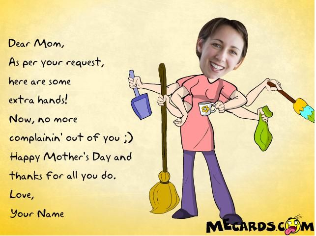 funny mothers day card sayings | ... Mother's Funny Bone with Irreverent E-cards this Mother's Day 2010
