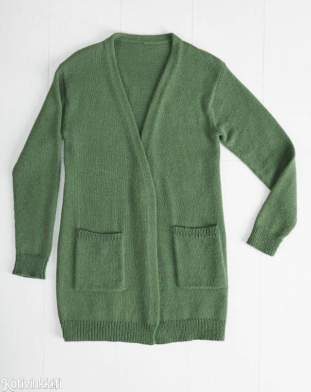 Paras neuletakki - katso ohje klassikkovaatteeseen! Suora neuletakki toimii niin mekkojen kuin farkkujenkin kanssa.