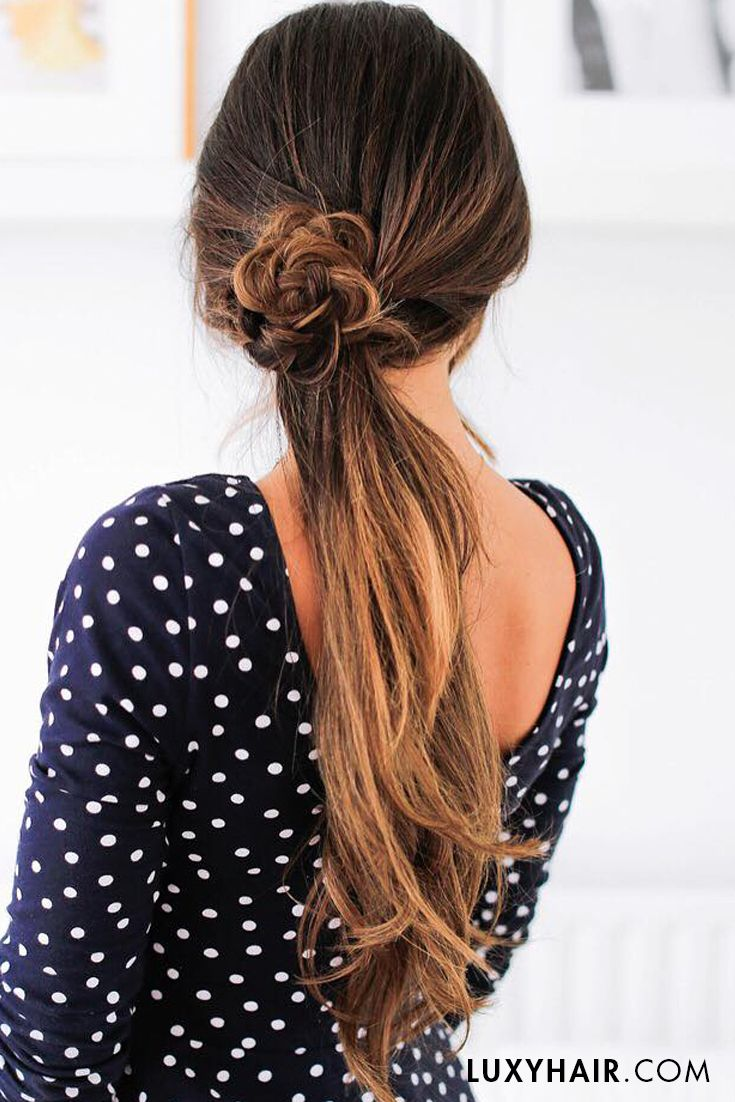 Throwback to this cute summer ponytail! <3 @mimiikon is wearing her 160g Ombre Chestnut #luxyhairextensions in this photo.
