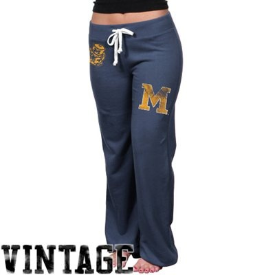 Michigan Wolverines Womens Relaxed Sweatpants - Navy Blue