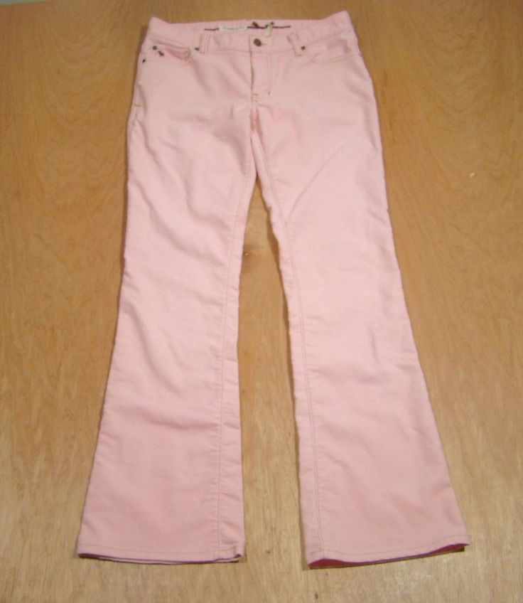 Abercrombie & Fitch Pink Corduroy-6-Cotton Blend-Flare- #AbercrombieFitch #Flare