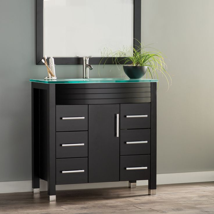 "Figi 36"" Single Sink Bathroom Vanity Set with Mirror"