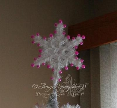 Pink Christmas Tree Star Topper