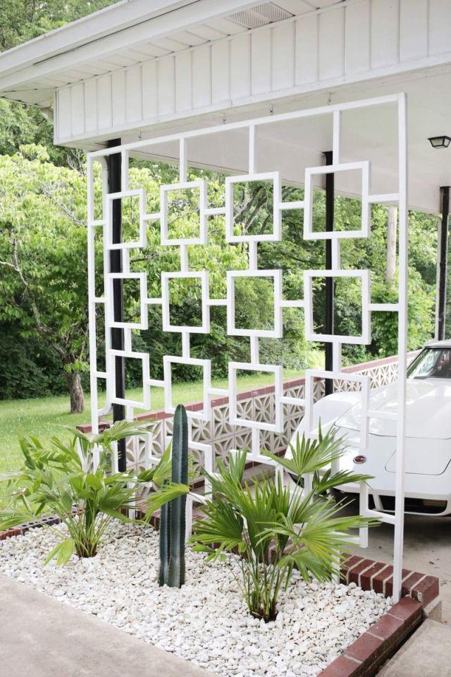 This 1 diy will transform your carport mid century for Trellis carport