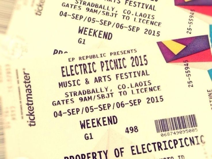 electric picnic ticket design - Google Search