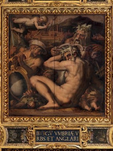 Allegory BORGO SAN SEPOLCRO & ANGHIARI Giorgio Vasari 1565 vintage-art POSTER in Art, Posters, Contemporary (1980-Now) | eBay