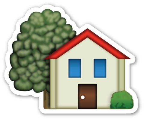 House with Garden | EmojiStickers.com