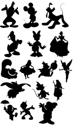 Character silhouette clipart