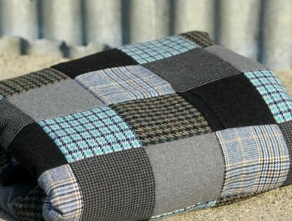 Upcycled Wool Suit Blanket