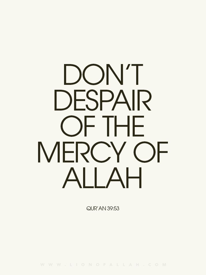 When Allah completed the creation, He wrote in His Book which is with Him on His Throne, 'My Mercy overpowers My Anger.' Allah's Forgiveness: Allah is the most Forgiving. There are many names of Allah given in the Qur'an. Some of these names are related to His mercy and forgiveness.