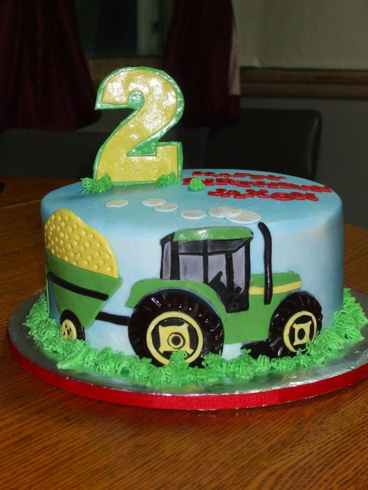 tractor birthday cakes   Cakes by Paula: John Deere Tractor Birthday Cake