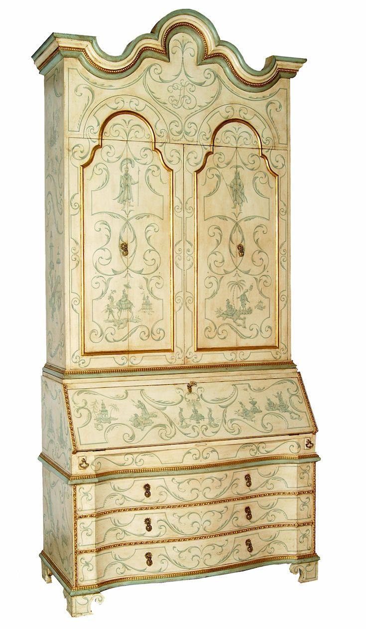 Painted Secretaire in the 18th century taste