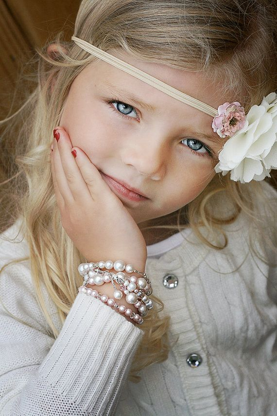 what a beauty! Beautiful baby bracelet  double layered pearl
