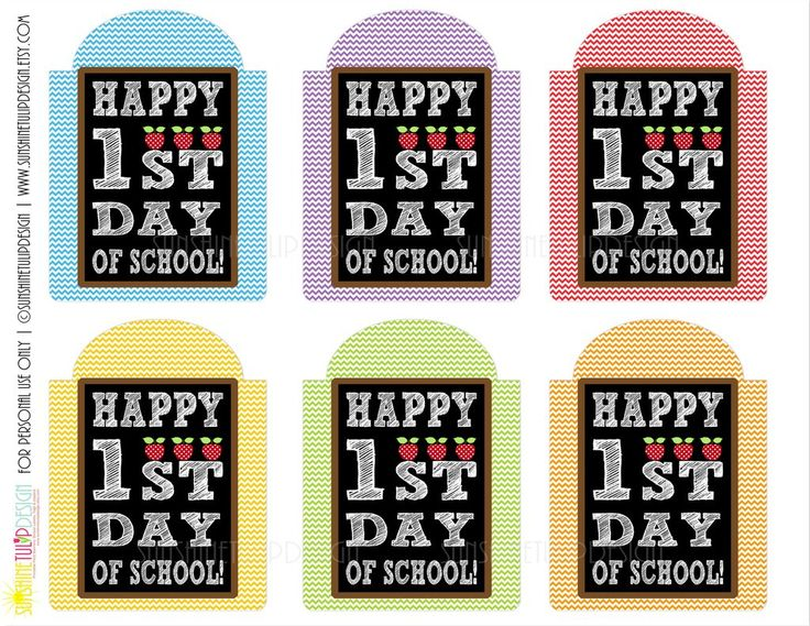 Printable Welcome Back To School Gift Tags, Happy 1st Day Back to School Printable Teacher Appreciation Tags by SUNSHINETULIPDESIGN