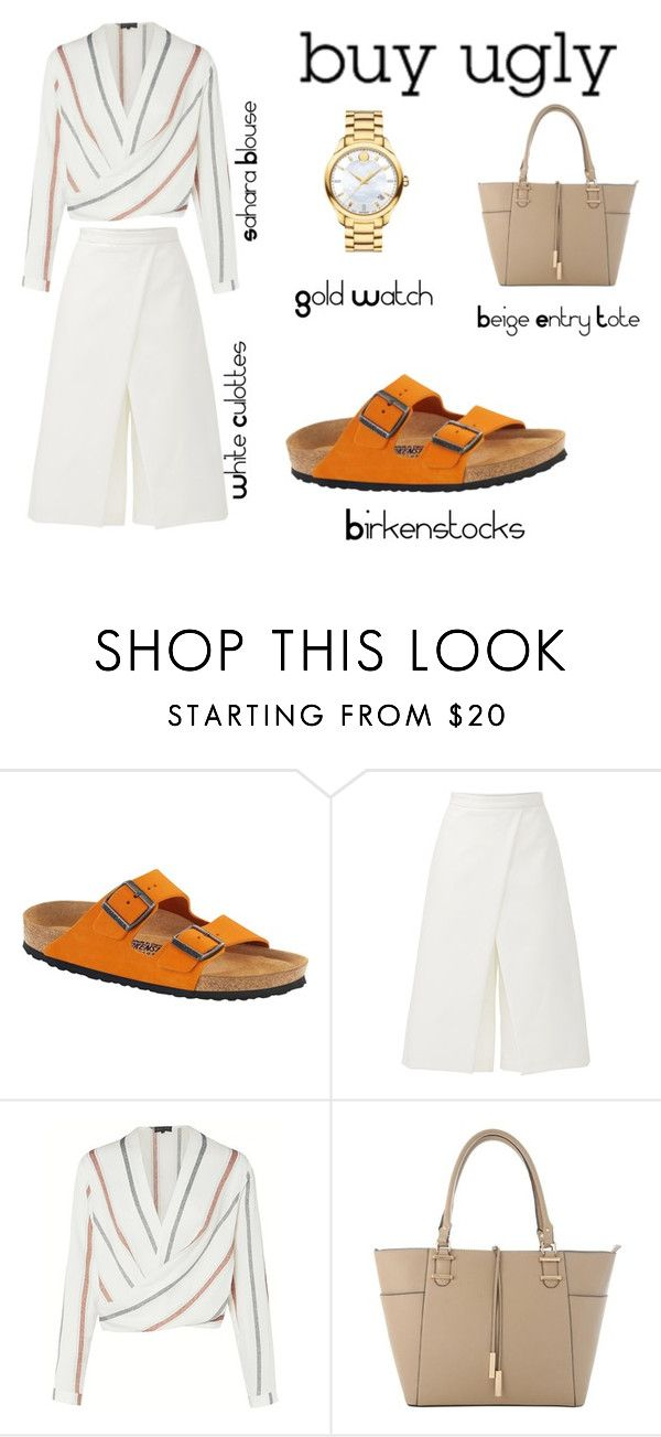 """""""Buy Ugly With These Birkenstocks"""" by tfashionspeaks ❤ liked on Polyvore featuring Birkenstock, TIBI and Movado"""