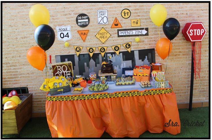 Fiesta tematica fiesta de cumplea os de construccion - Ideas para cumpleanos adulto ...