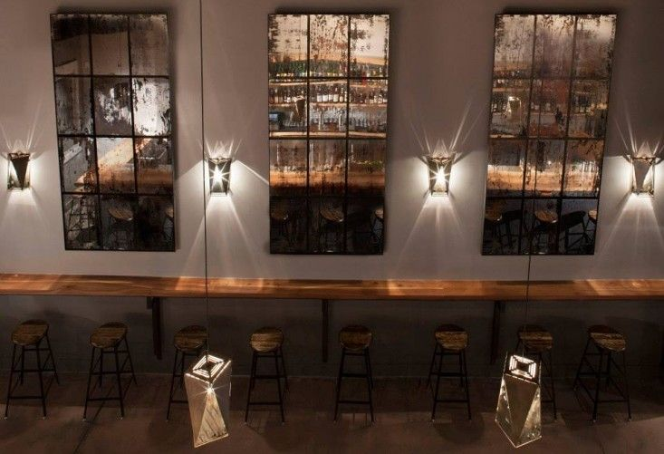 Aged Mirrors at ABV Cocktail Bar in San Francisco | Remodelista