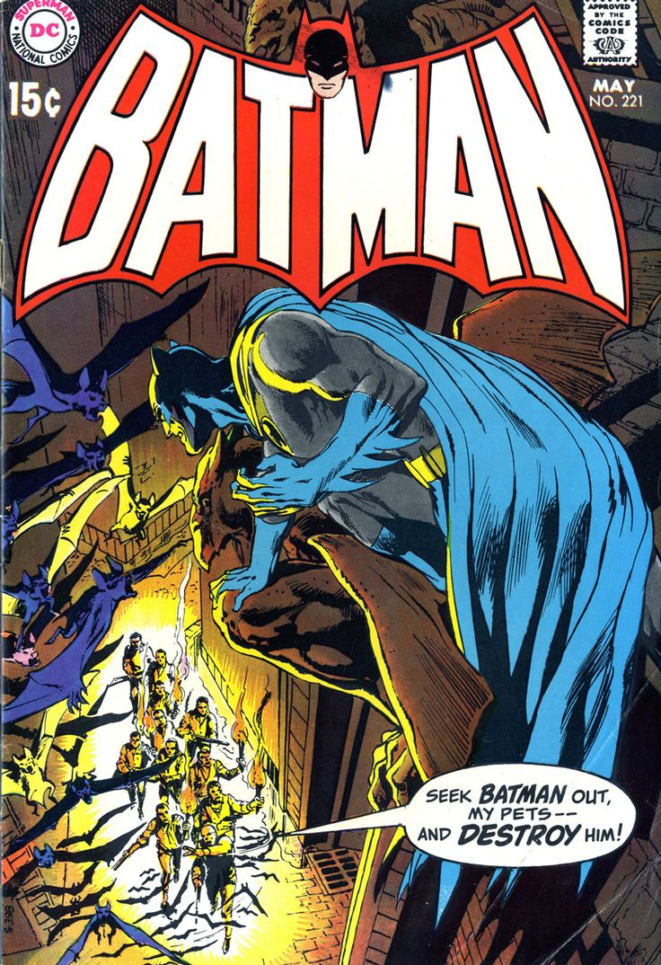 Batman #221 (1970). Cover art: The clever Neal Adams