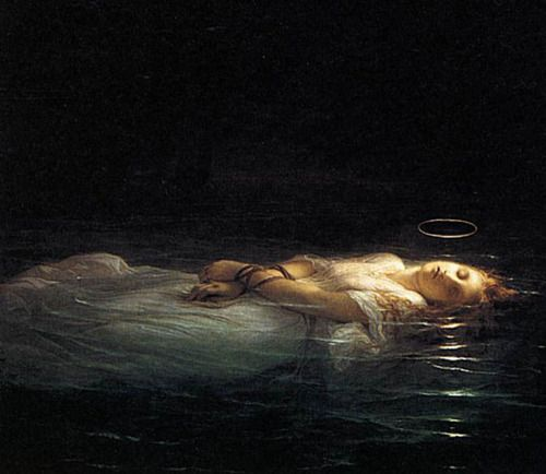 Paul Delaroche, The Young Martyr (detail), 1855