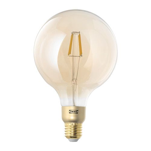 LUNNOM LED bulb E27 400 lumen IKEA The LED light source consumes up to 85% less energy and lasts 10 times longer than incandescent bulbs.