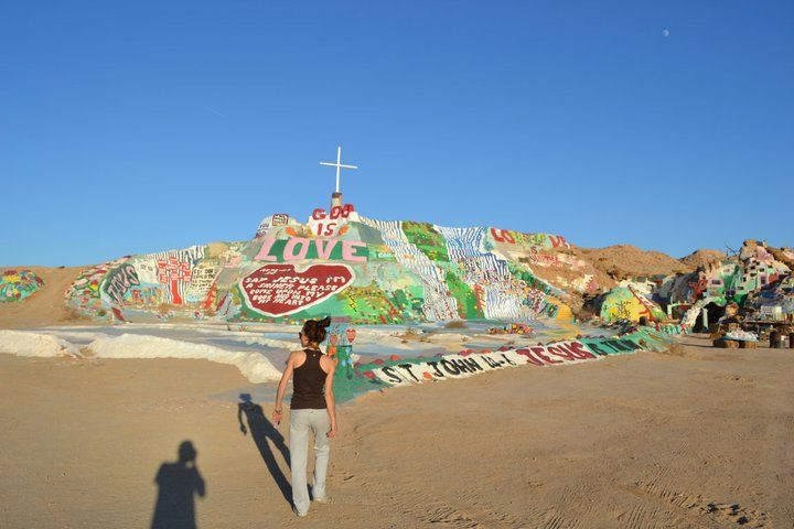 Salvation Mountain, California's desert