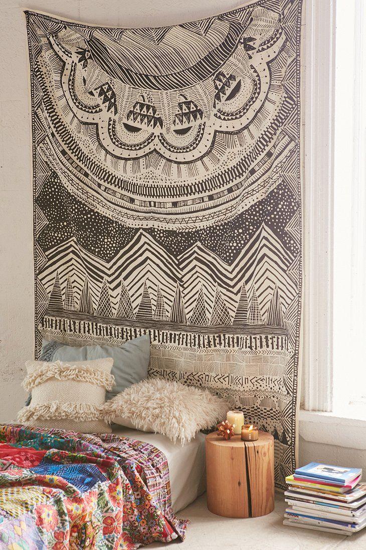 4040 Locust Altai Scratch Markings Tapestry