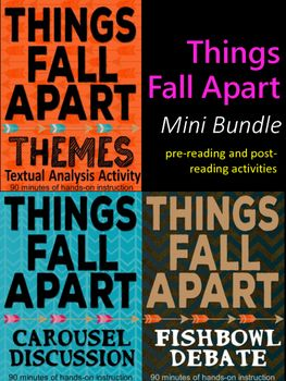 Do you have enough fun activities planned for Things Fall Apart?  Check out this mini bundle to add to your files.  For a savings of over 30%, buy this pre-reading and post-reading activities bundle today to increase student engagement in your classroom.