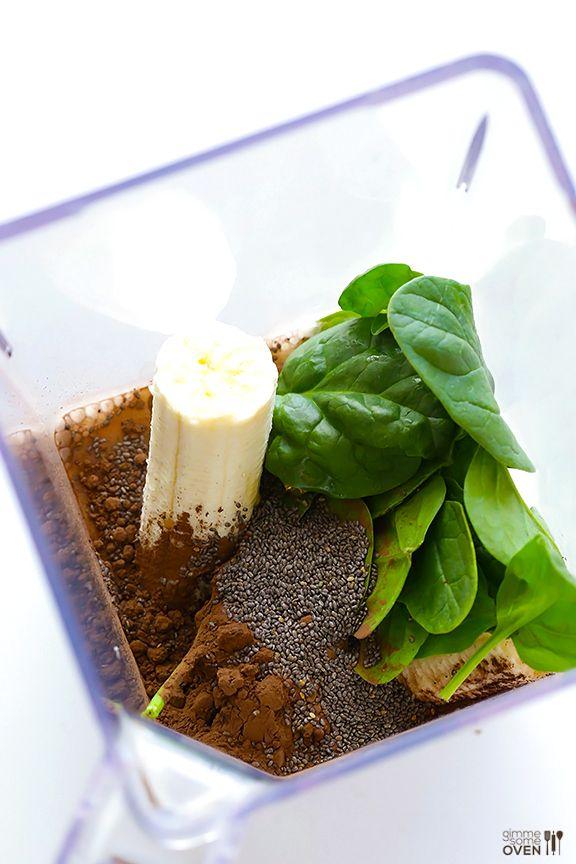 Chocolate Chia Smoothie | gimmesomeoven.com #vegan #glutenfree