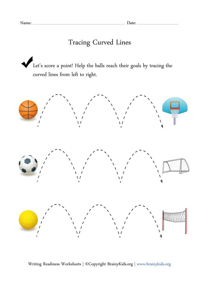 ... - Curved Line Tracing 1 Worksheet Free Printable Worksheets Picture
