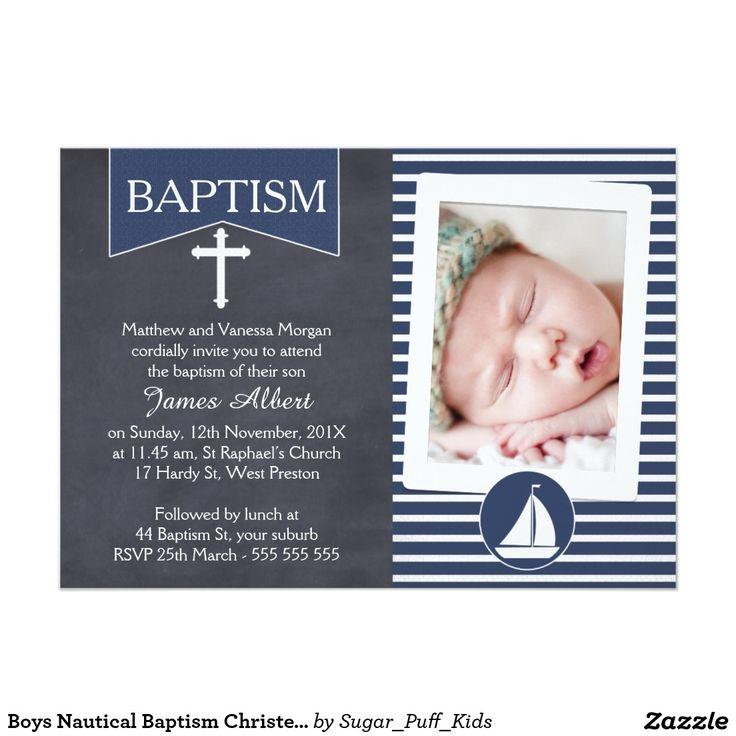 37 best CHRISTENING STUFF images on Pinterest Nautical baptism - best of sample invitation of baptism