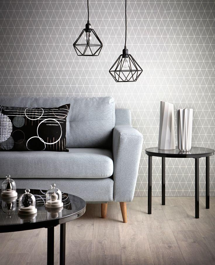 Un salon design dans les couleurs bleu et noir disponible sur BUT.fr