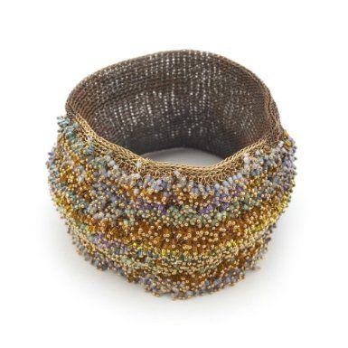 Brass Stitched Bracelet by Milena Zu