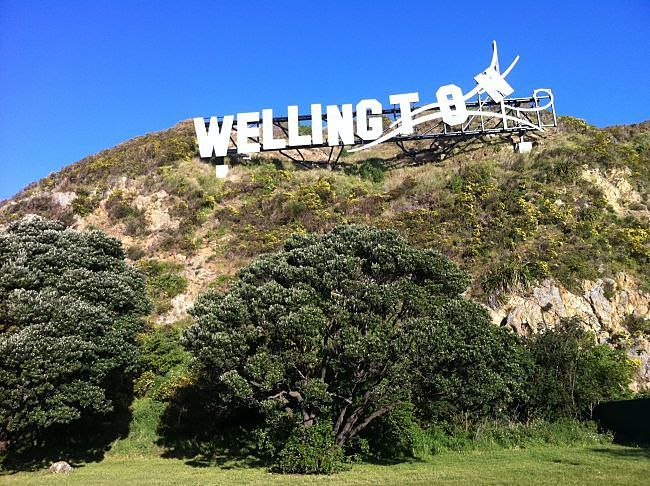 Wellington signage or are we at Welliewood?!!? This is because of Peter Jackson and his film making team at the Weta Workshops in Miramar