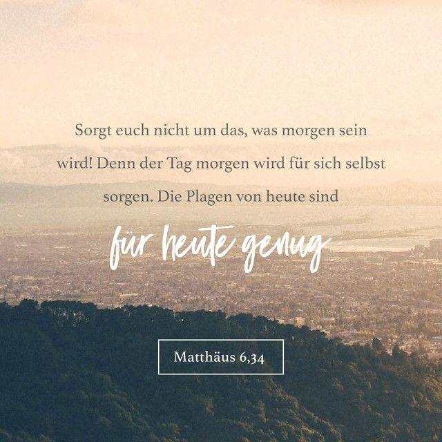 Matthäus 6:34 YouVersion Bible
