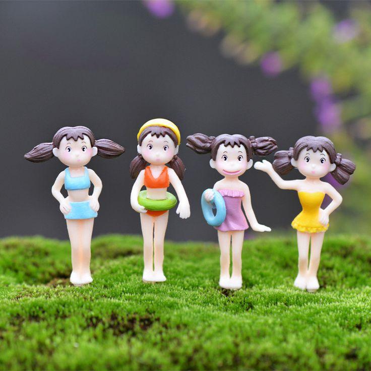 1Pc Random Bikini Girl DIY Resin Fairy Garden Craft Decoration Miniature Micro Gnome Terrarium Gift F0031
