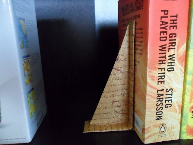 Homemade Bookends...I need some bookends, this is the perfect way to go!