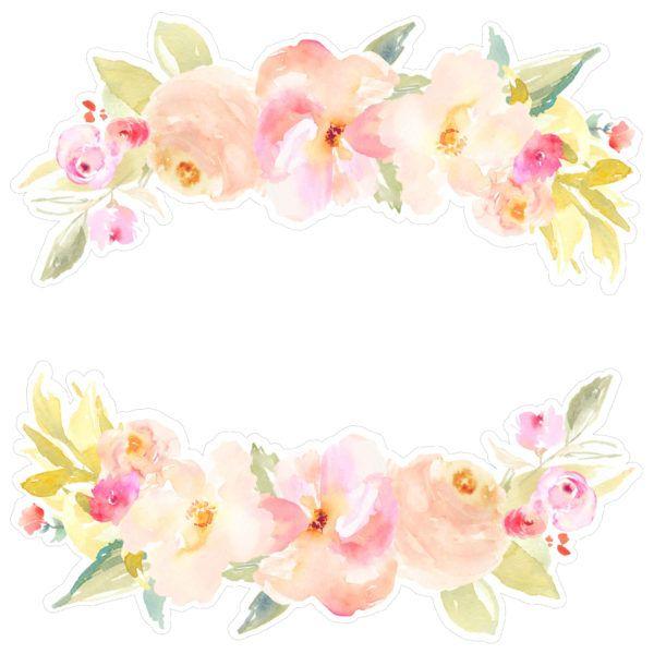 Spring Florals Svg Clipart Watercolor Flowers Svg Boho Florals