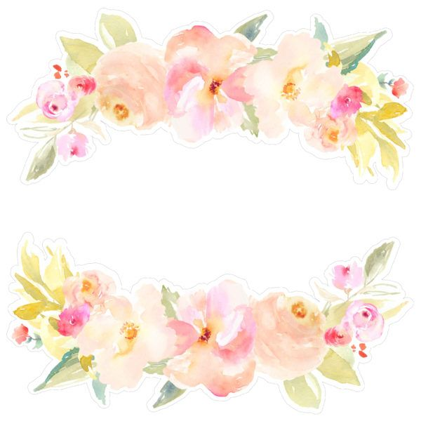 Flower Border Svg File Watercolor Flowers Silhouette Design