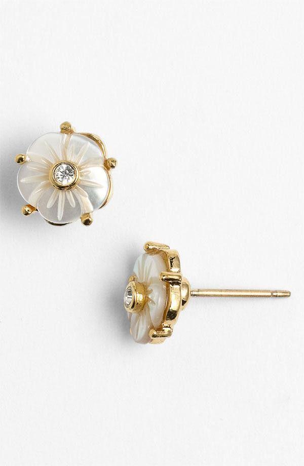 kate spade new york 'crystal corsage' stud earrings