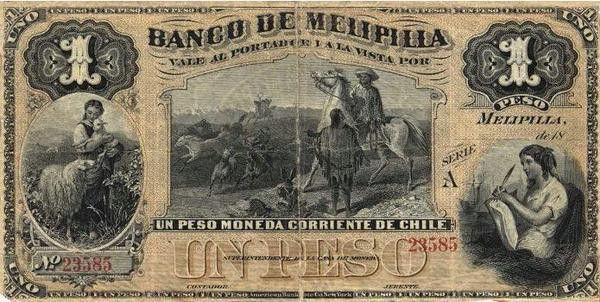 Billetes y Bcos antiguos de Chile