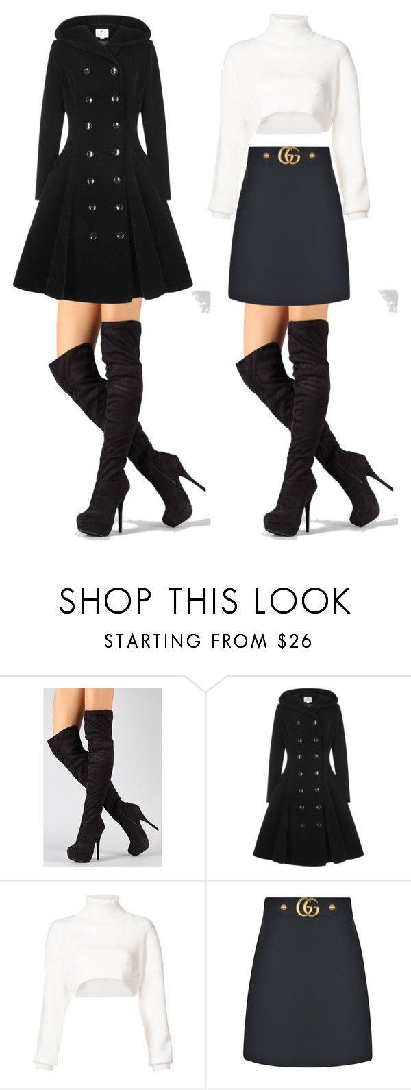 """""""♥_________♥"""" by lore-4ever-directioner on Polyvore featuring moda, Collectif, Alexandre Vauthier y Gucci"""