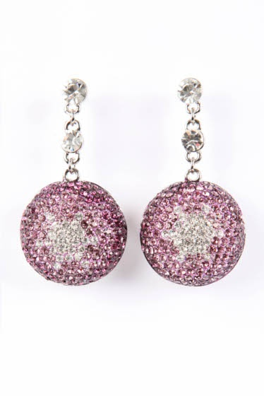 Crystal Ball Earrings - Lovely in Lilac #earrings
