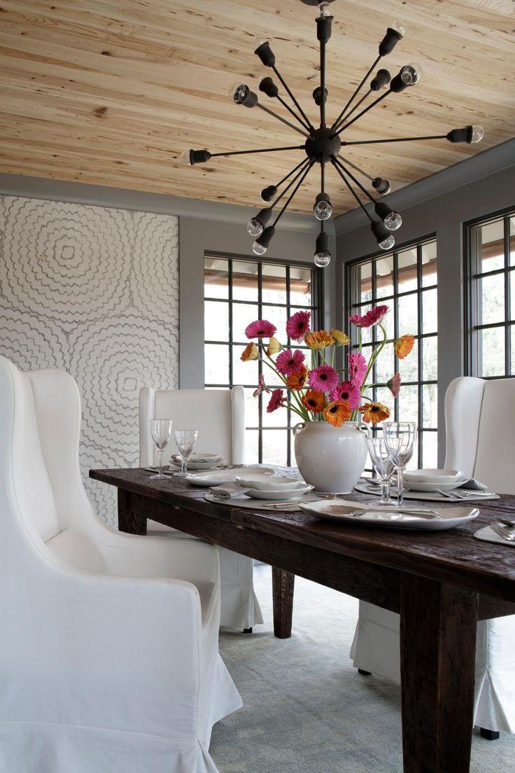 chic home lighting ideas  hgtv  farmhouse dining room