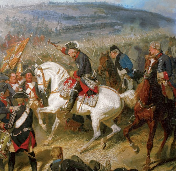 King Frederick the Great at the Battle of Zorndorf, Seven Years War