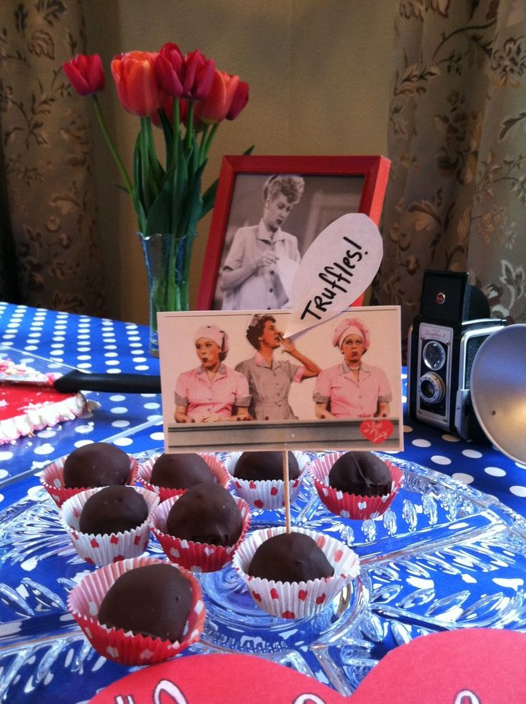 I found that at a I love lucy party.. There must be truffles.