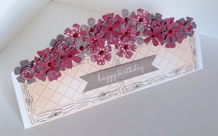 Stunning window box card created by Phillipa Lewis using the Rosa collection.