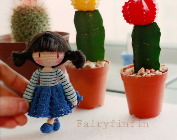 fairyfinfin: Cute Crochet Girl Doll, Cute Amigurumi Girl Doll, Handmade Gift, Cute Collection Girl Doll, Cute Gift, Birthday Gift, Girl Gift.
