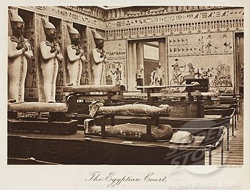 Egyptian Court inside the Crystal Palace, London, 1911.